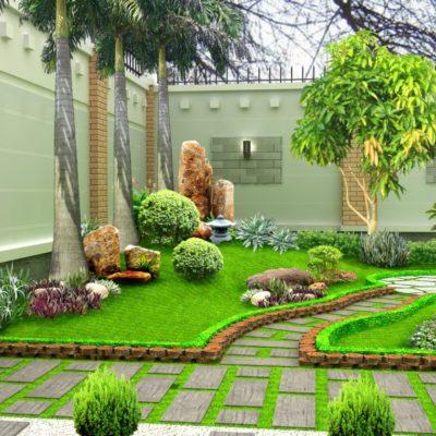 Cách trang trí tiểu cảnh sân vườn